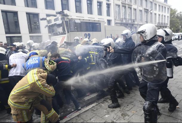 Affrontements lors de la manifestation de la fonction publique
