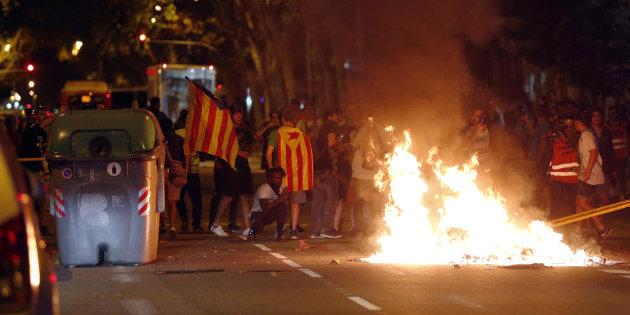Les affrontements d'hier lundi à Barcelone