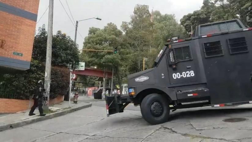 Affrontements entre étudiants et ESMAD à Bogota