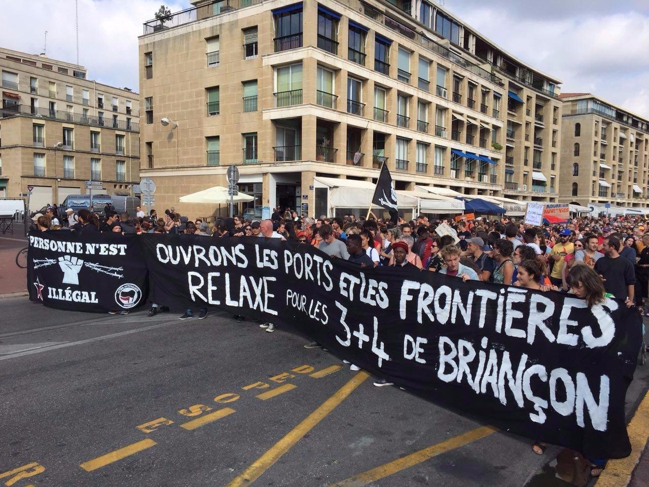 Manifestation solidaire des inculpés de Briançon