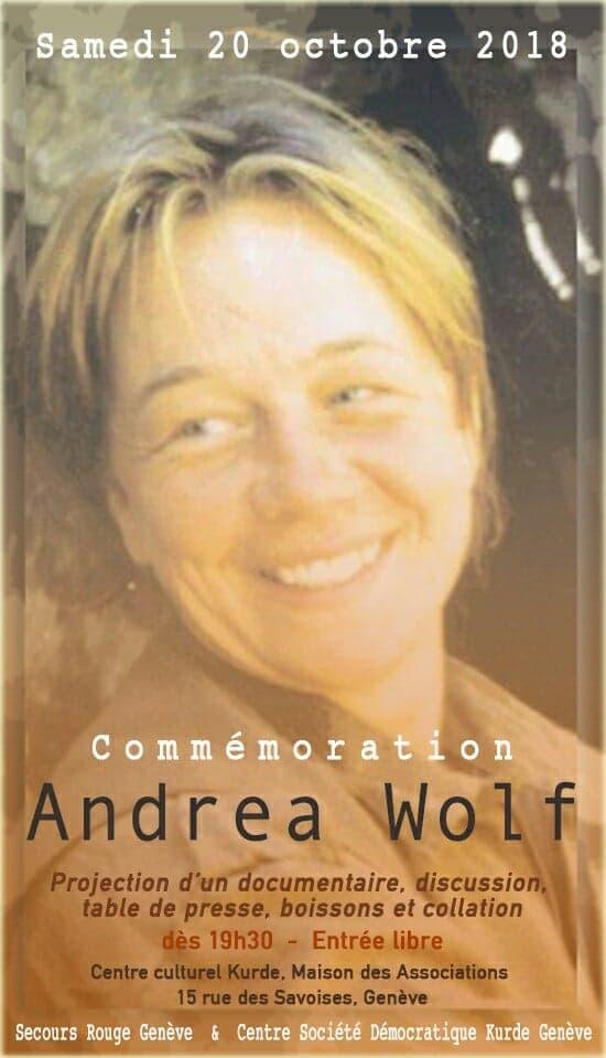 Soirée de commémoration Andréa Wolf