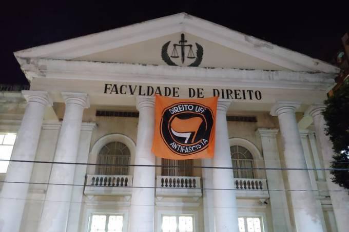 La Faculté de droit de l'Universidade Federal Fluminense avant l'intervention policière