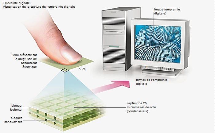 Relevé électronique d'empreinte digitale