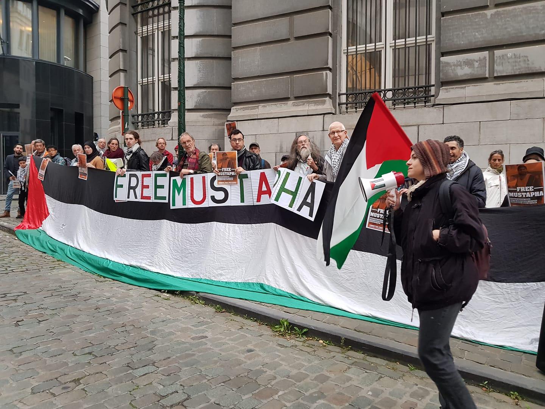 Mobilisation pour la libération de Mustapha Awad devant le Ministère des Affaires Etrangères