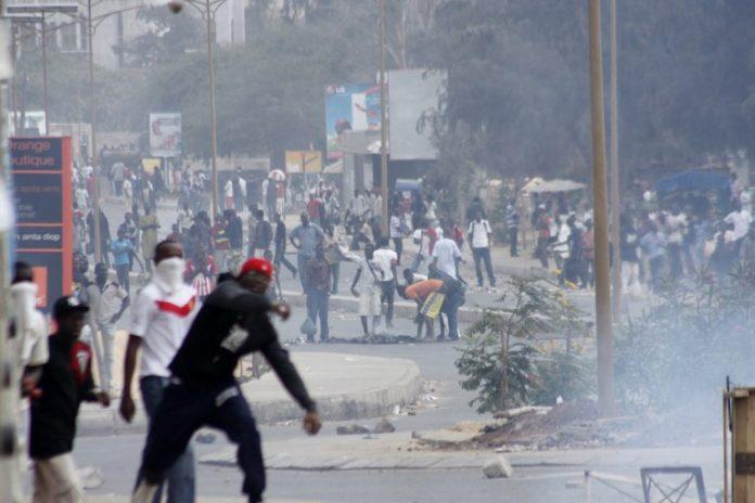 Les affrontements à Dakar