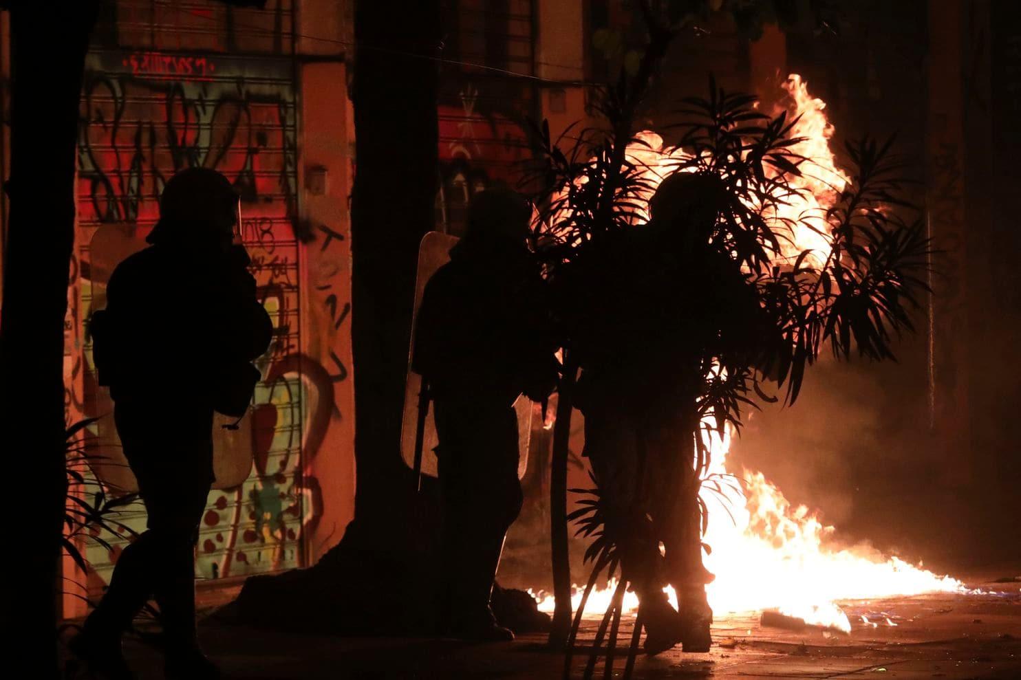 Les affrontements de la nuit de samedi à dimanche, à Exarchia