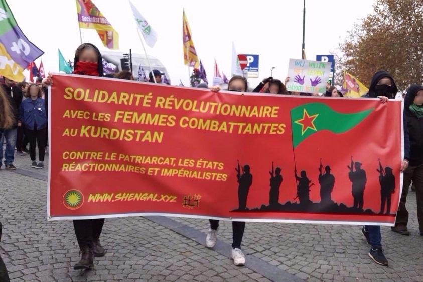 A la manifestation de Bruxelles