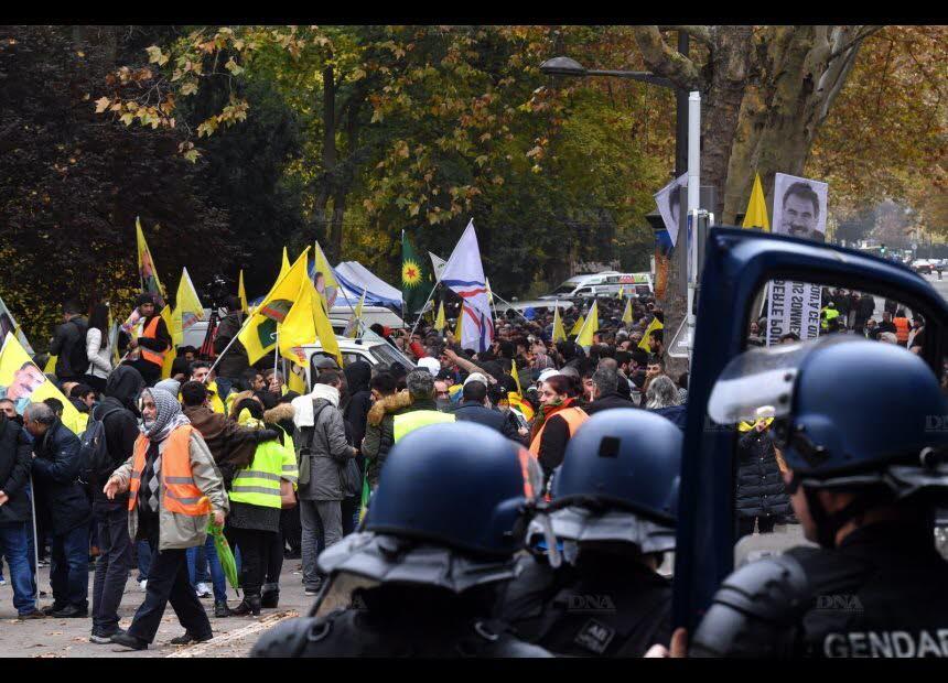 Manifestation de soutien à Öcalan à Strasbourg