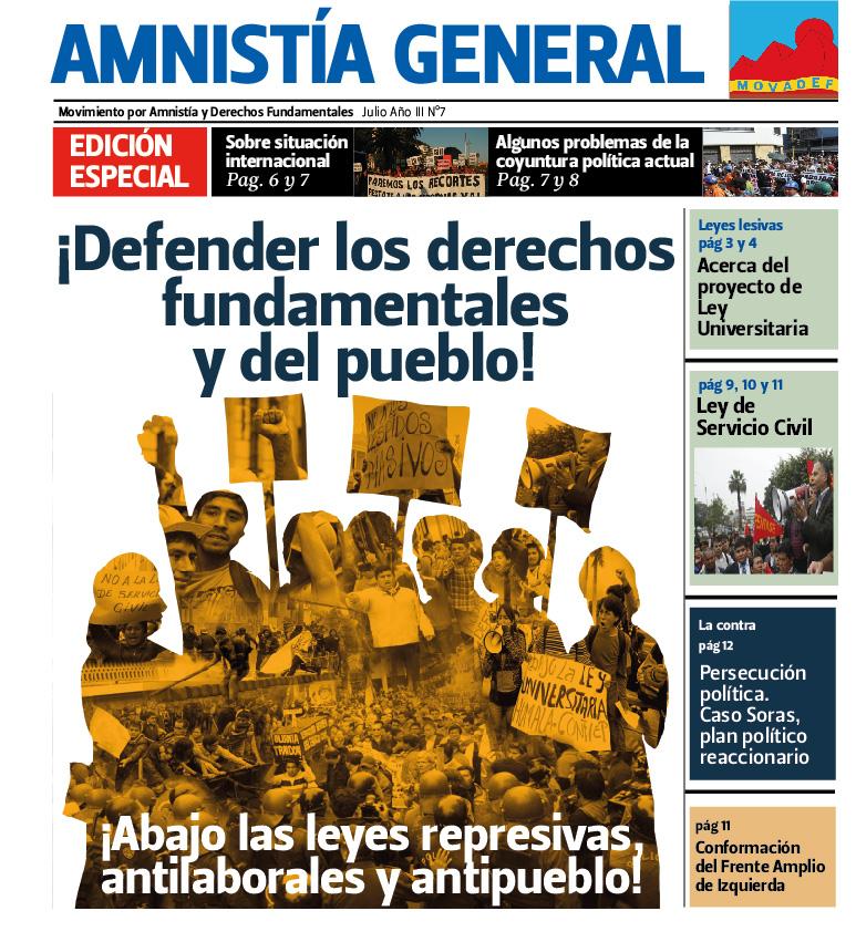 Amnistía General, périodique dont les rédacteurs sont poursuivis