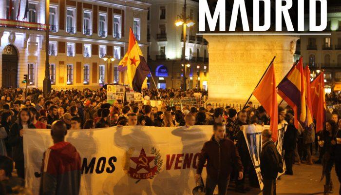 Rassemblement à Madrid en soutien au PML(RC)