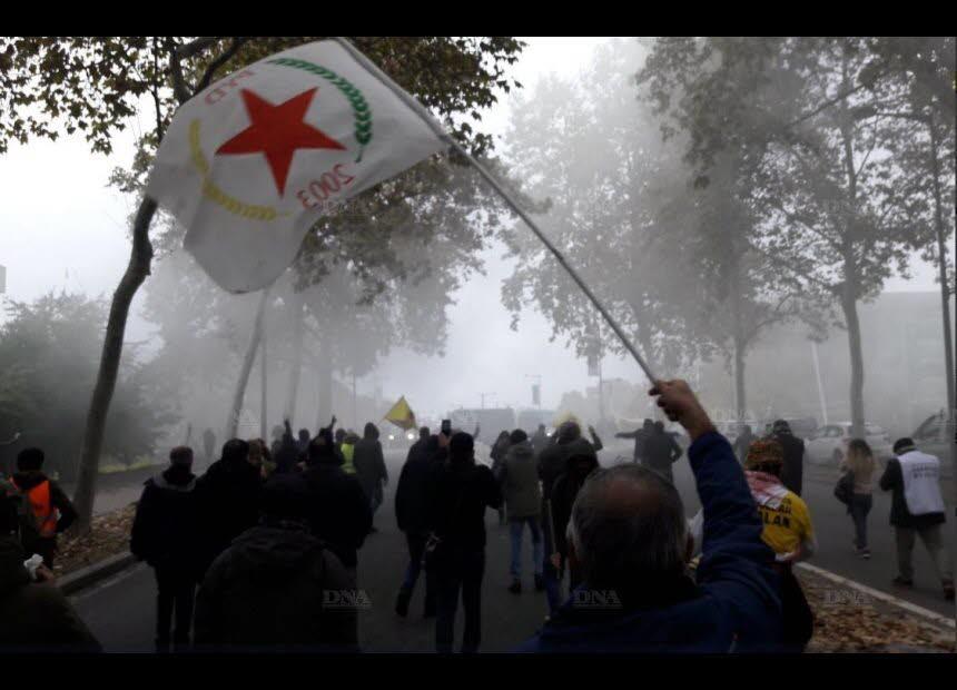 Manifestation du 6 novembre en soutien à Ocalan (Strasbourg)