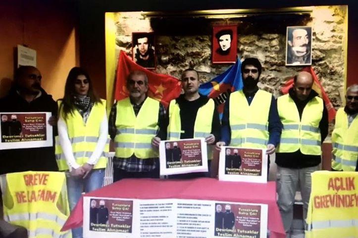 Militants de l'ADHK à Paris en grève de la faim