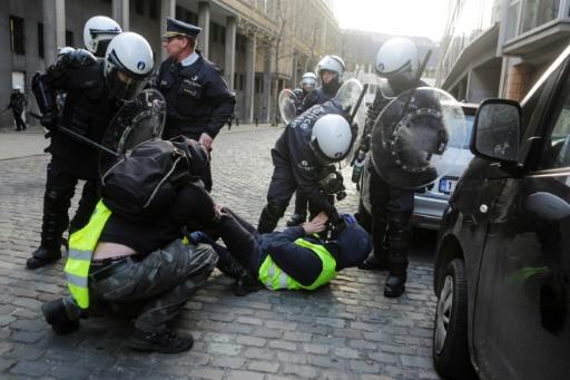 Arrestation lors d'une manifestation des gilets jaunes à Bruxelles (archive)