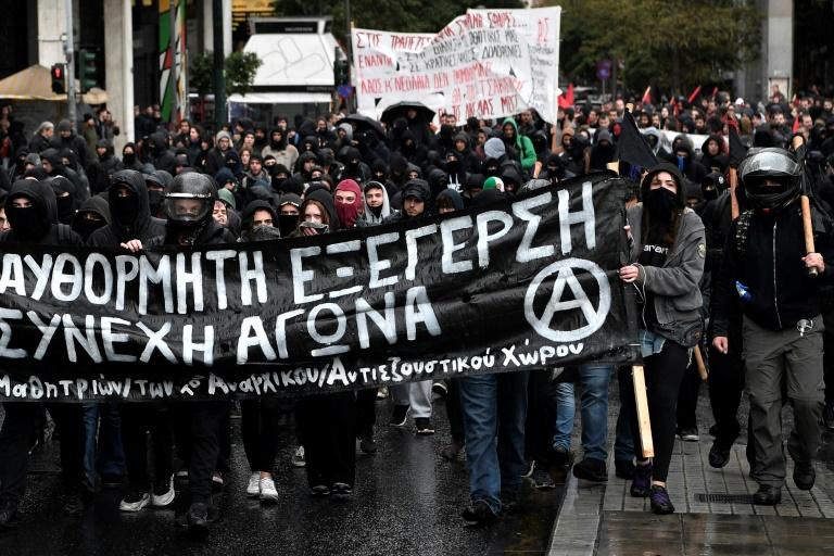 La manifestation d'Athènes