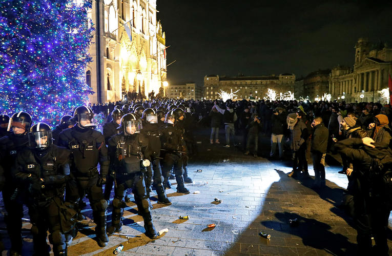 Affrontements à Budapest hier jeudi