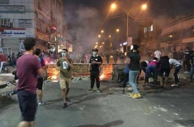 Les affrontementsc d'hier à Bassora