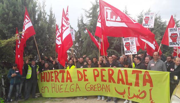 Manifestation des travailleurs grévistes d'Azkoiengo Huerta de Peralta