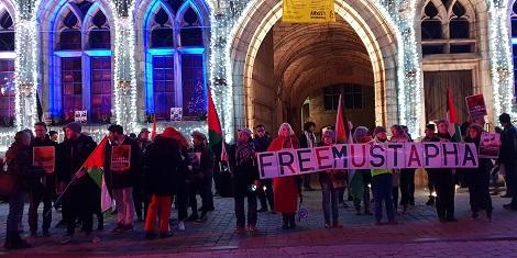Manifestation de soutien à Mustapha Awad à Mons, le 11 décembre 2018