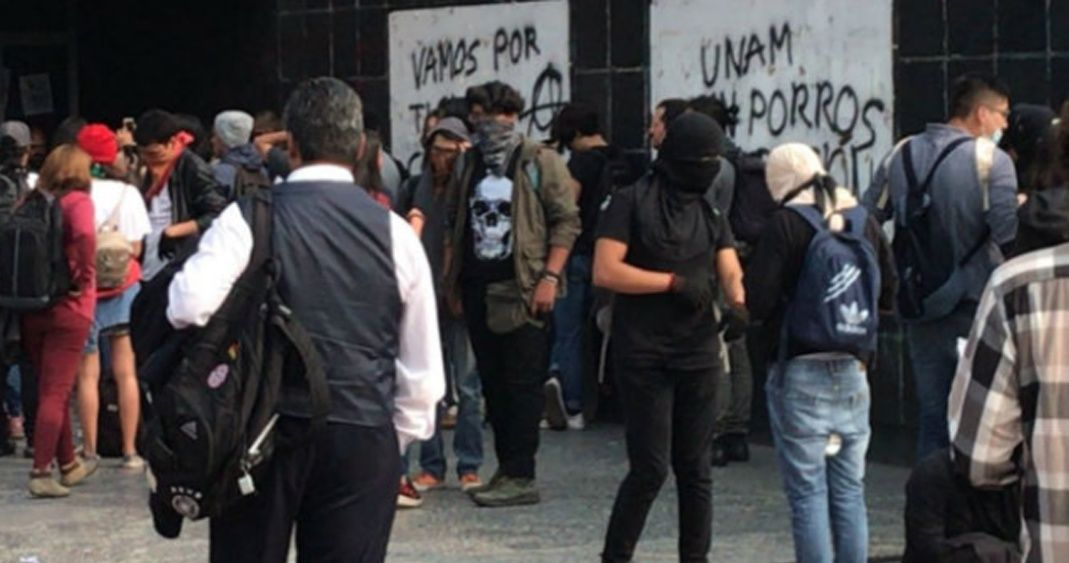 Les incidents à l'UNAM