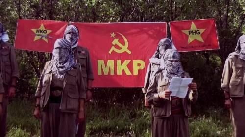 Combattants de la HKO, branche armée du MKP (Parti Communiste Maoïste)