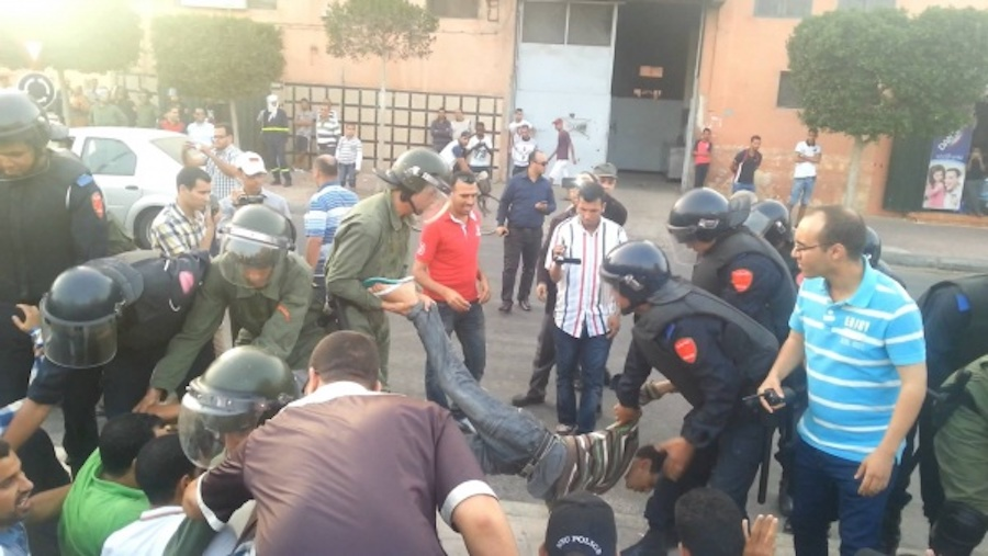 L'intervention policière à El-Ayoune