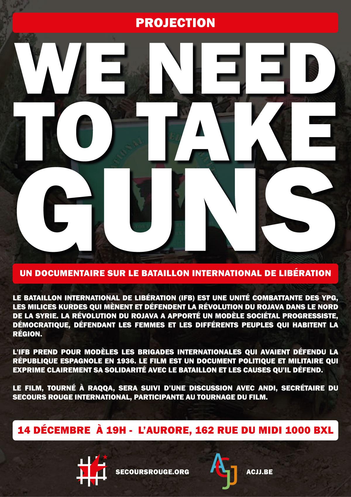 We need to take guns