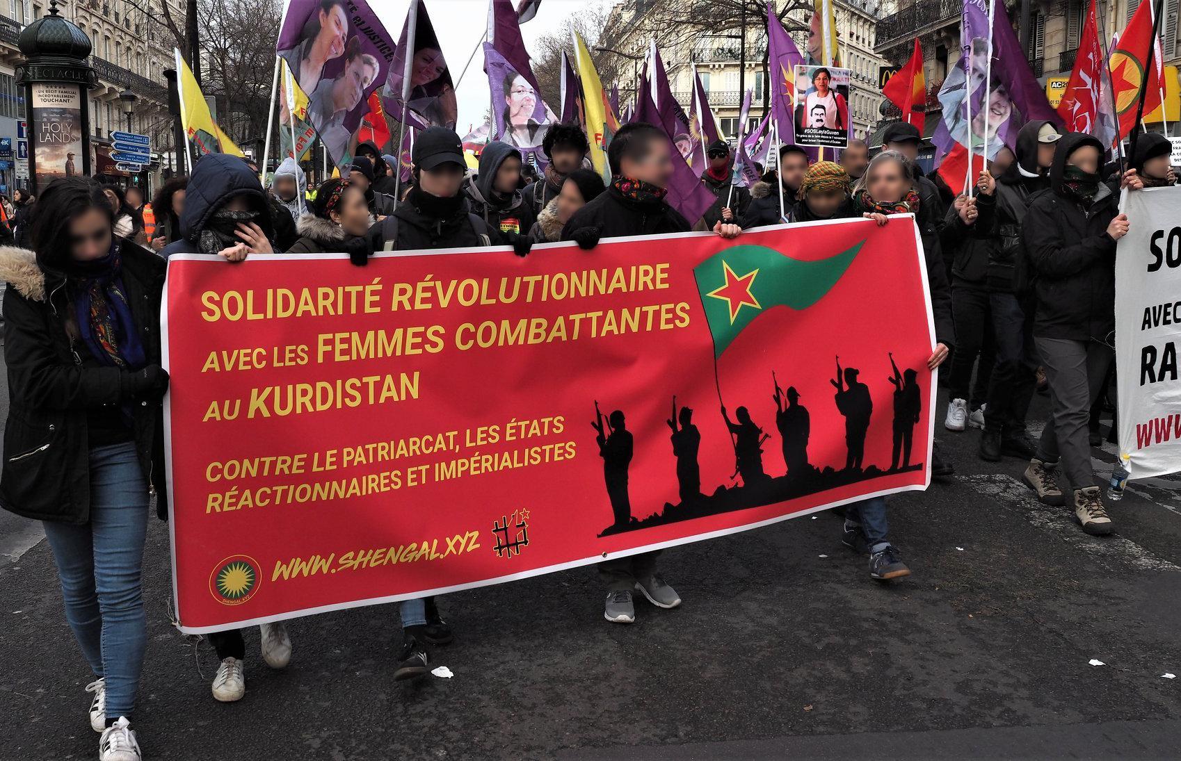 Banderole de la campagne Shengal - Secours Rouge (Belgique)