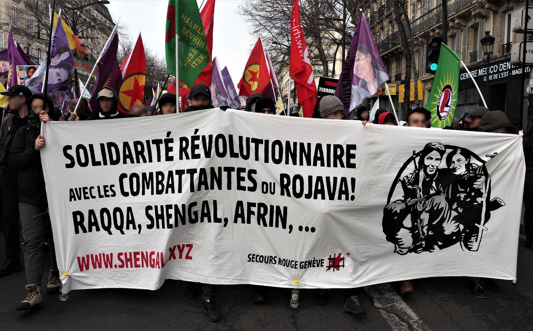 Banderole de la campagne Shengal - Secours Rouge de Genève