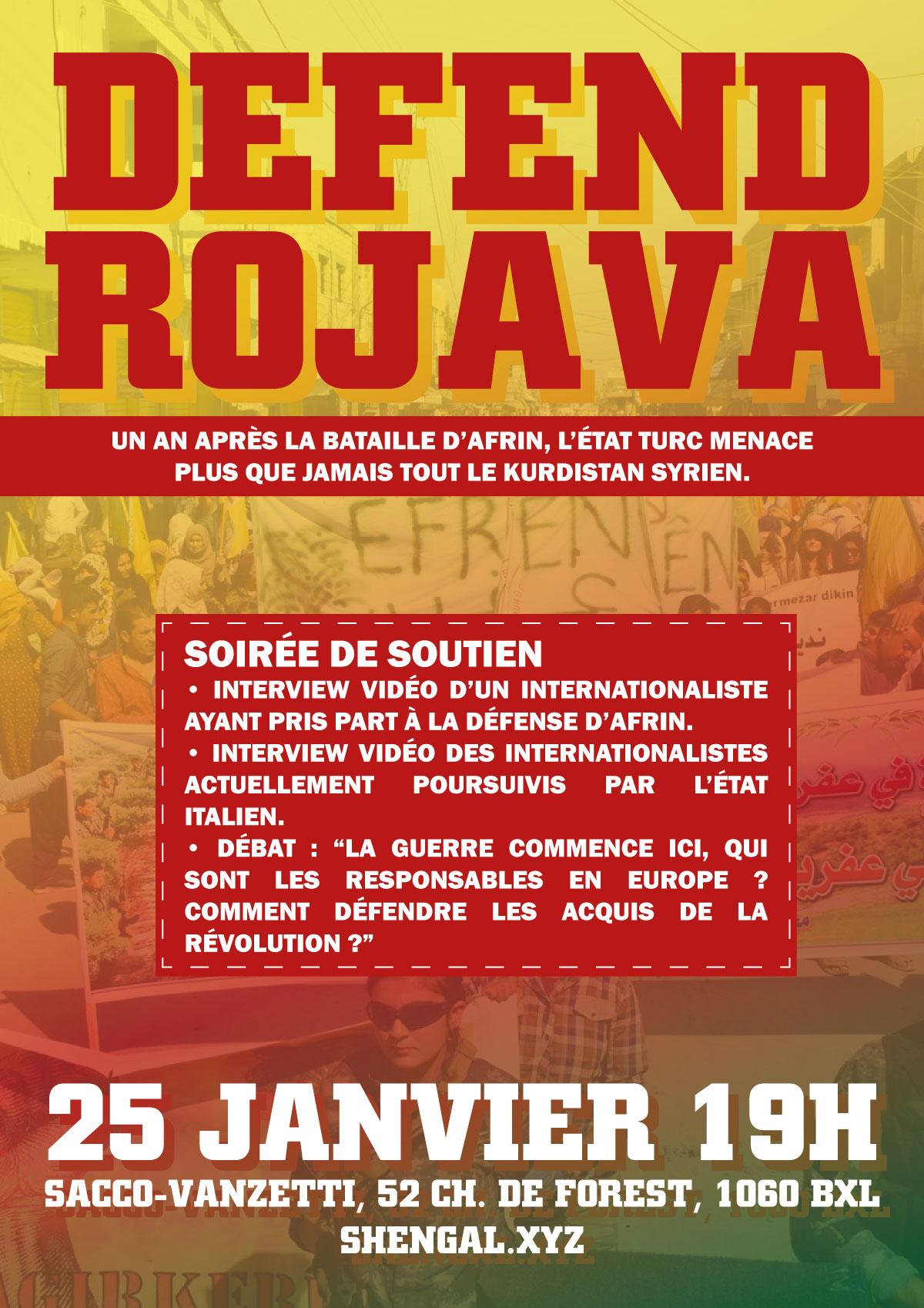 Soirée Defend Rojava