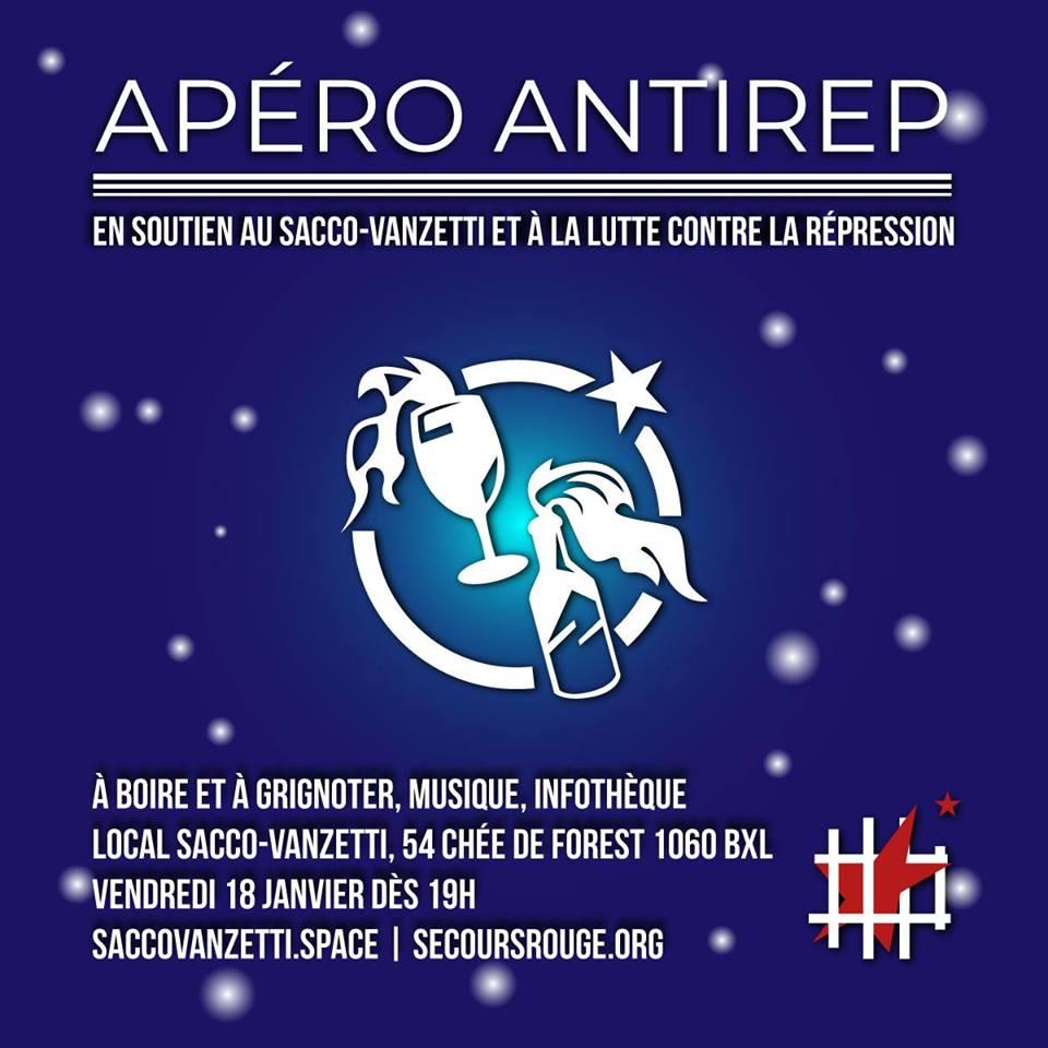 Apéro du Sacco-Vanzetti ce vendredi 18 janvier