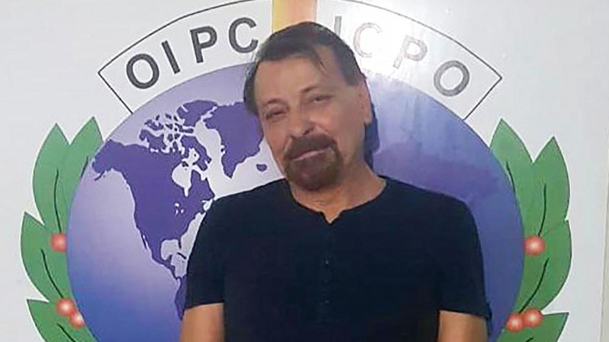 Cesare Battisti, après son arrestation en Bolivie