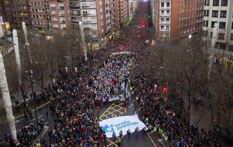 La manifestation de Bilbao