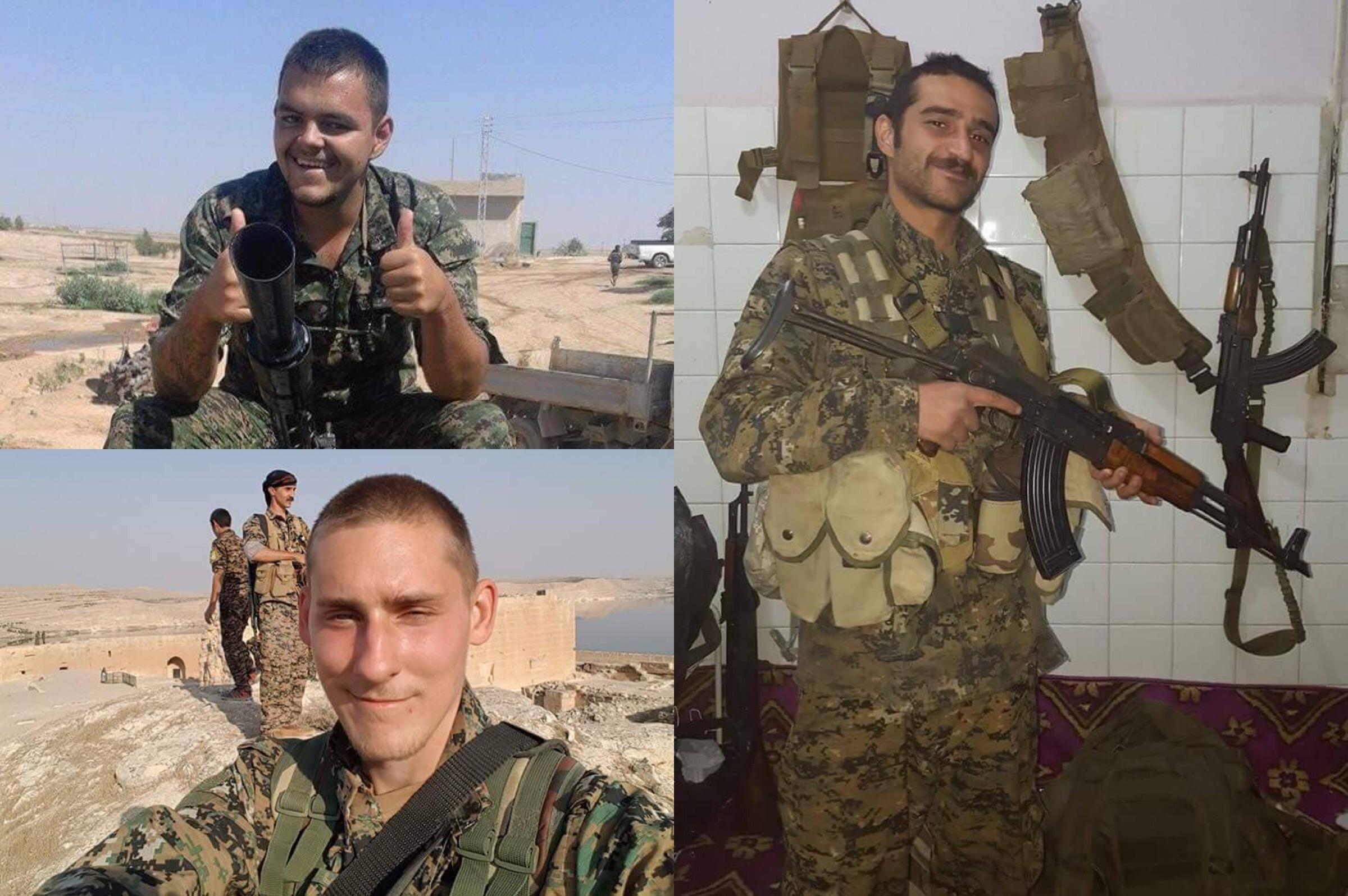 Trois volontaires britanniques au Rojava: Ozkan Odzil est à droite