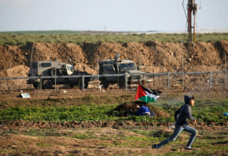 A  la frontière de Gaza hier vendredi