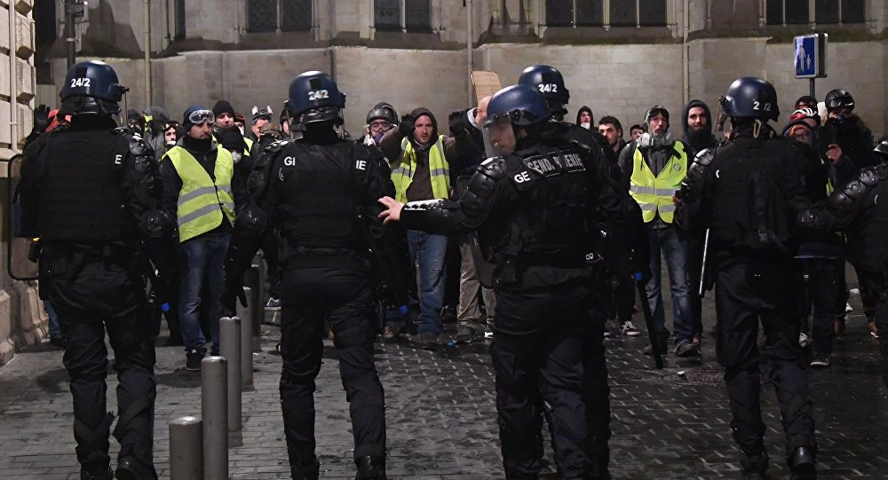Arrestations de Gilets jaunes à Bordeaux (archive)