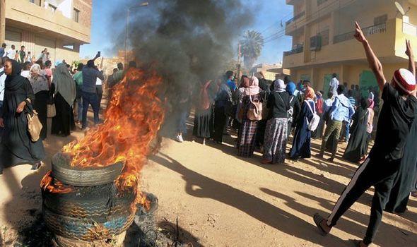 Manifestation anti-gouvernmentale au Soudan