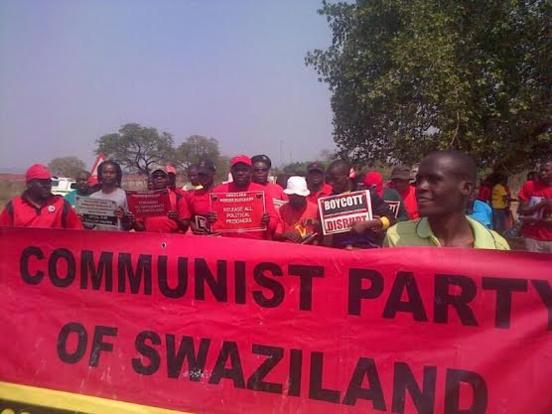 Militants du Parti Communiste du Swaziland