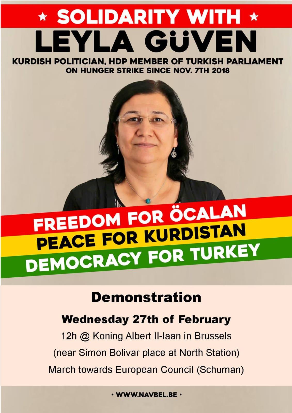 Manifestation de soutien à Leyla Güven et aux grévistes de la faim, mercredi 27 février 2019