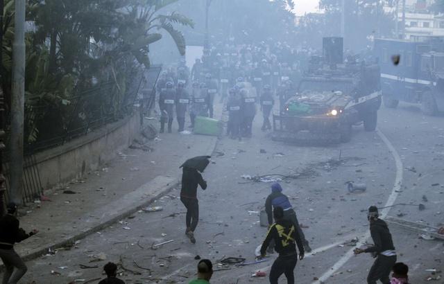 Les affrontements à Alger