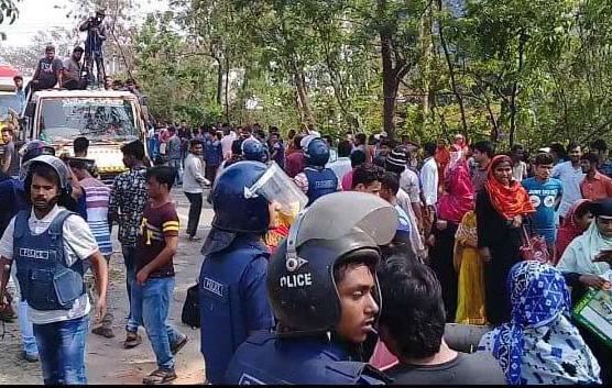 La manifestation des travailleurs de  Narayanganj