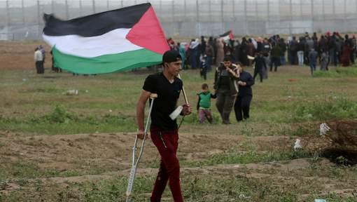 Manifestant gazaoui