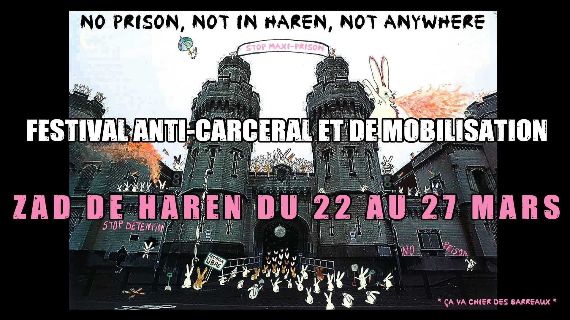 L'affiche du troisième festival anti-carcéral de Haren