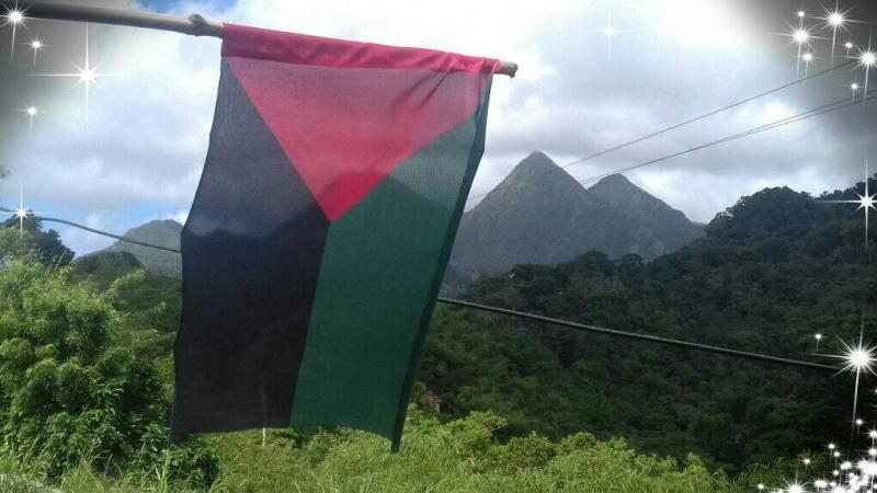 Un drapeau indépendantiste de Martinique