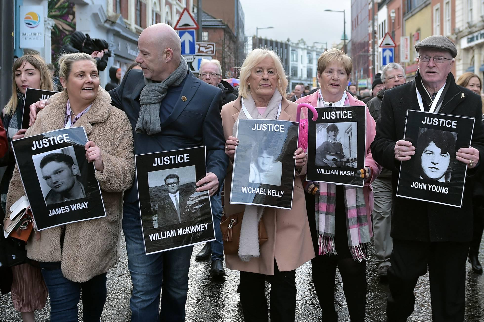 Marche des parents et proches des victimes du Bloody Sunday