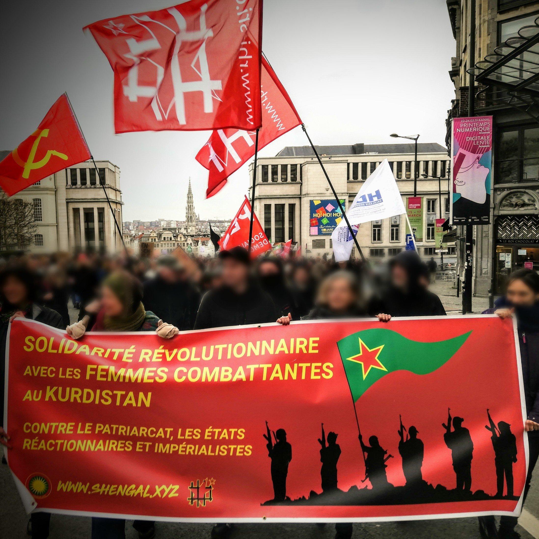 Délégation de la campagne Celox à la manifestation de l'après-midi