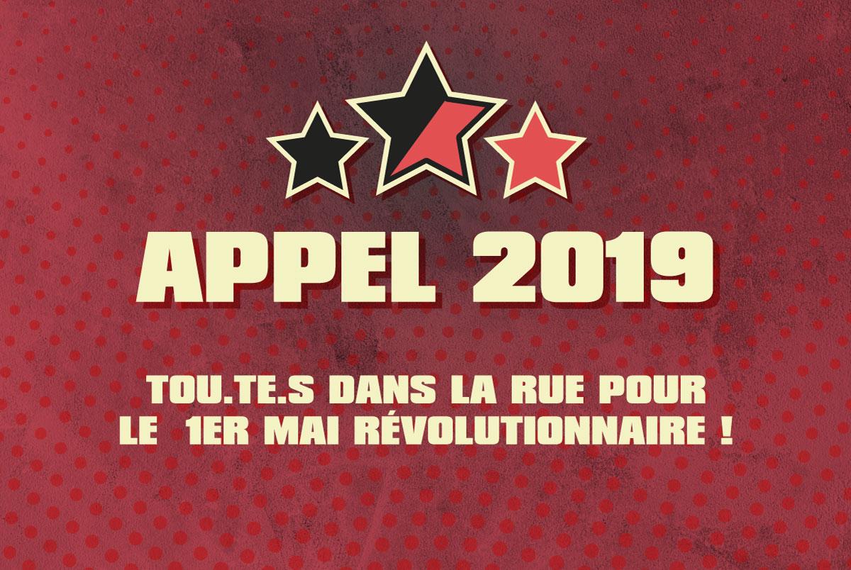 Tou.te.s au 1er Mai Révolutionnaire 2019 à Bruxelles !