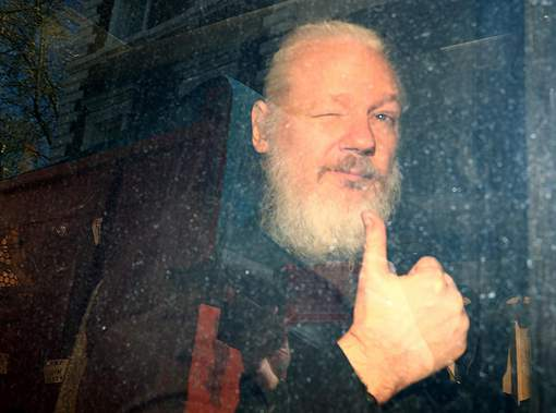 Assange à son arrestation