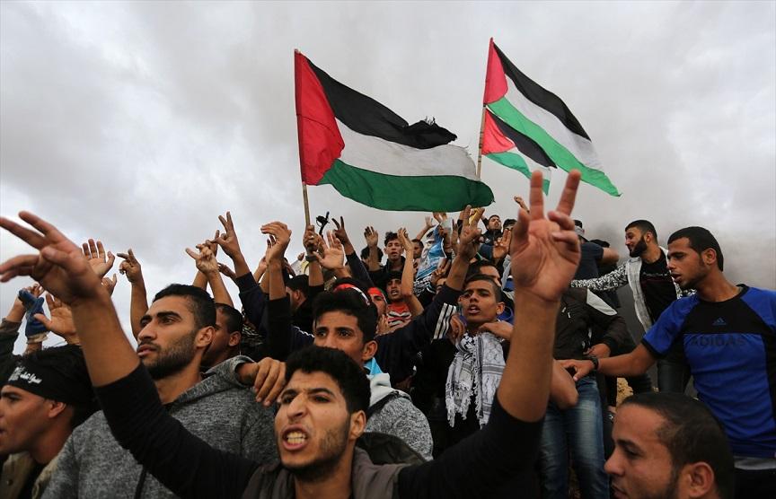Manifestants à Gaza