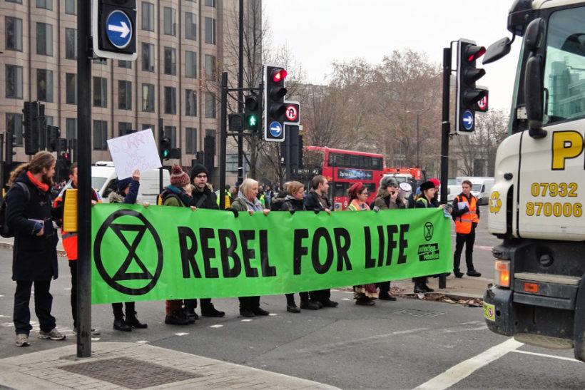 L'action de blocage pour le climat du 17 novembre à Londres