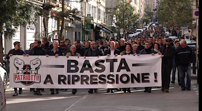 La manifestation anti-représsion à Bastia du samedi 13 avril